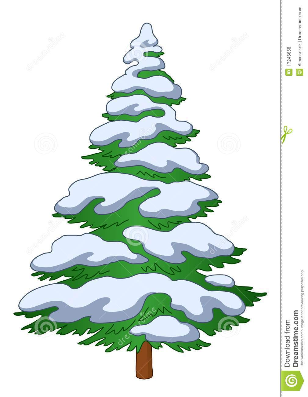 With white christmas background and snow vector vector background - Fur Tree With Snow Royalty Free Stock Photos Image 17246658