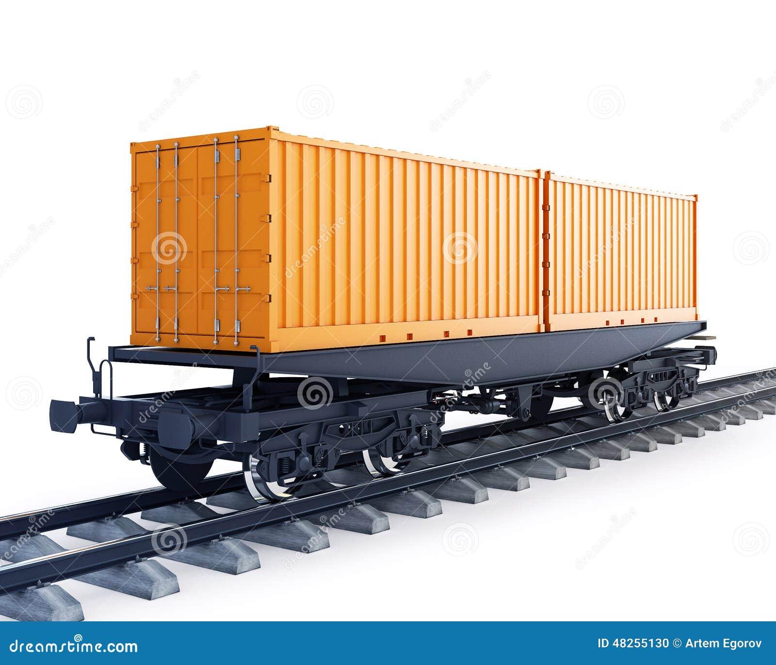 Furgon pociąg towarowy