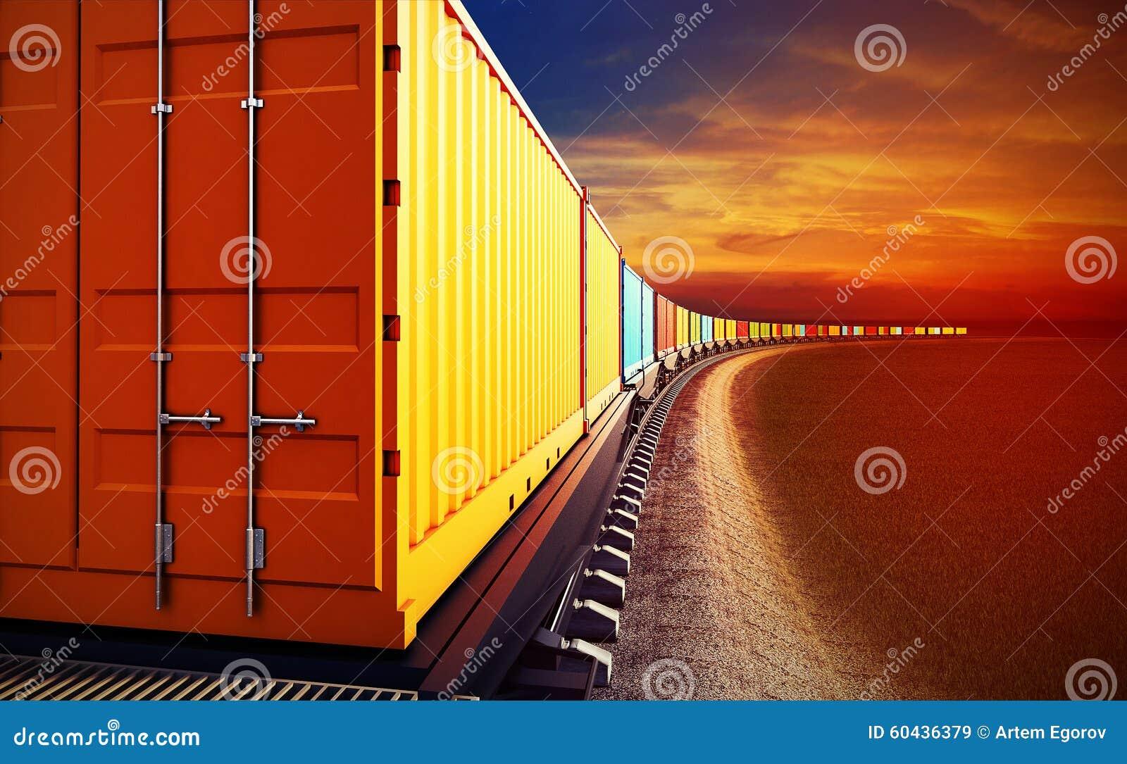 Furgon pociąg towarowy z zbiornikami
