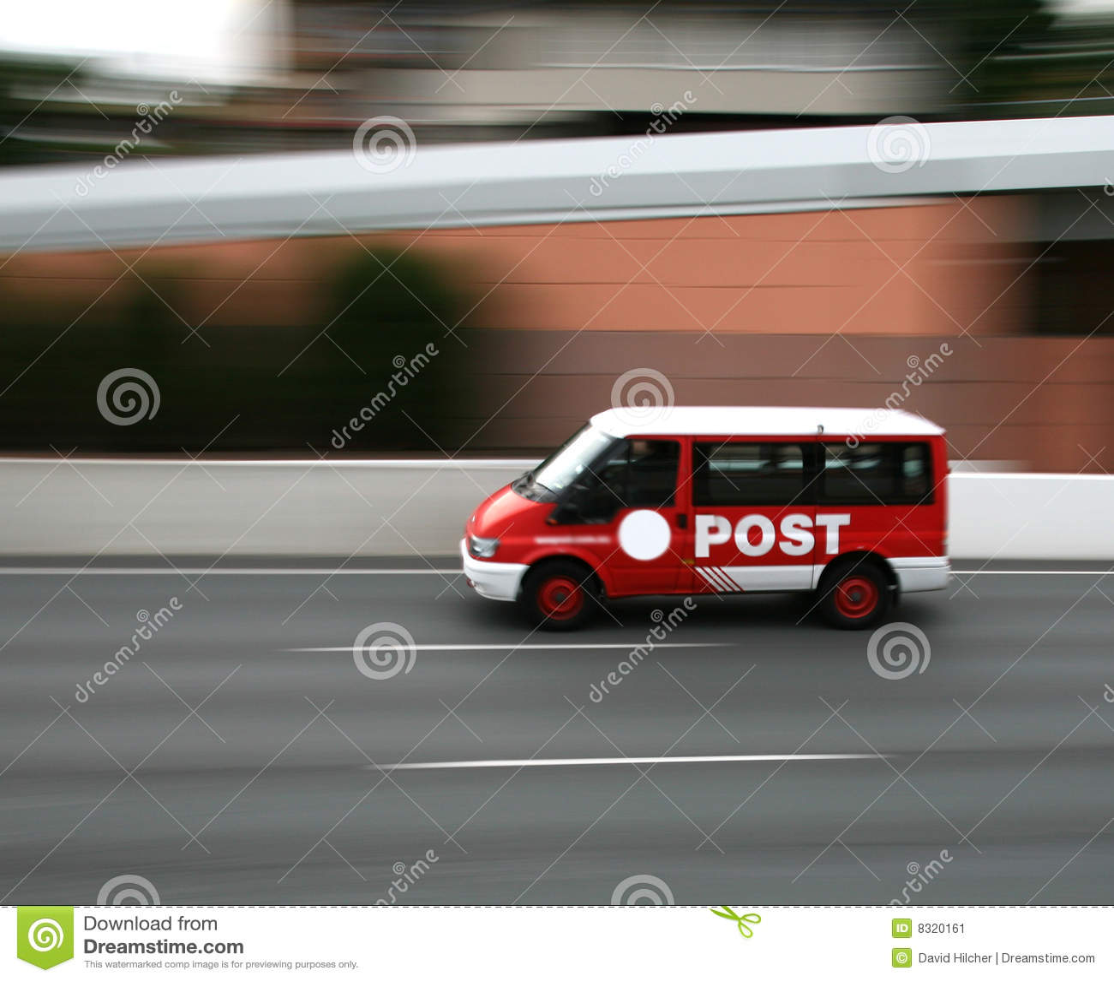 Furgoneta de la oficina de correos