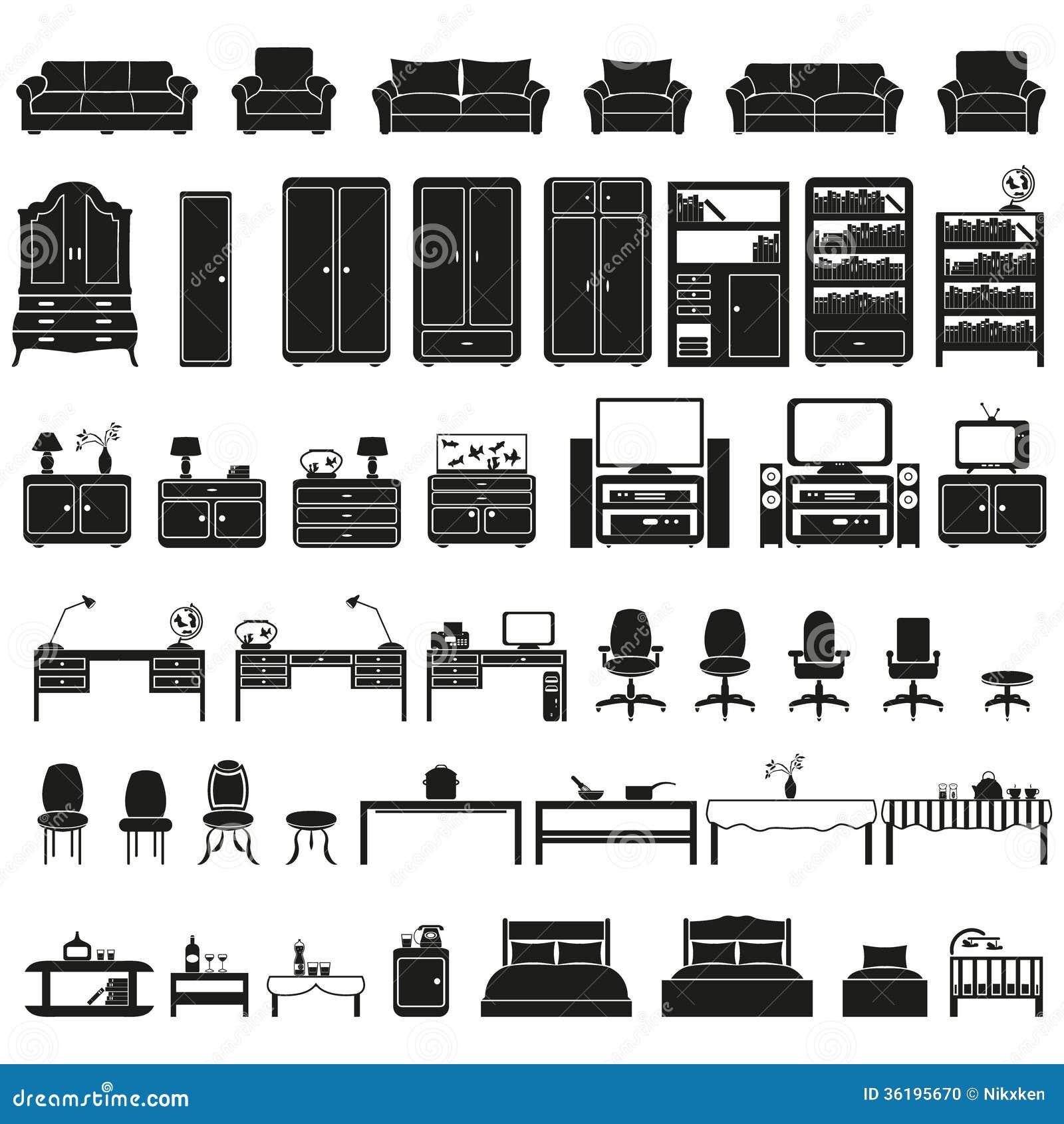 Furniture Icons Horetska Tk # Los Muebles Powerpoint