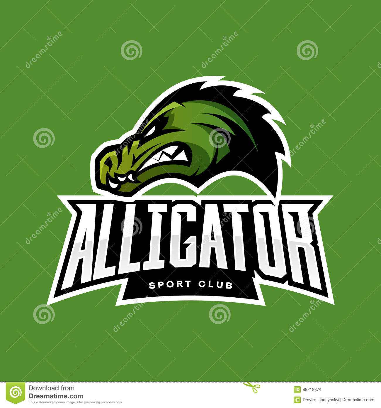 Modern Professional It Company Logo Design For Concept: Furious Alligator Sport Vector Logo Concept Isolated On