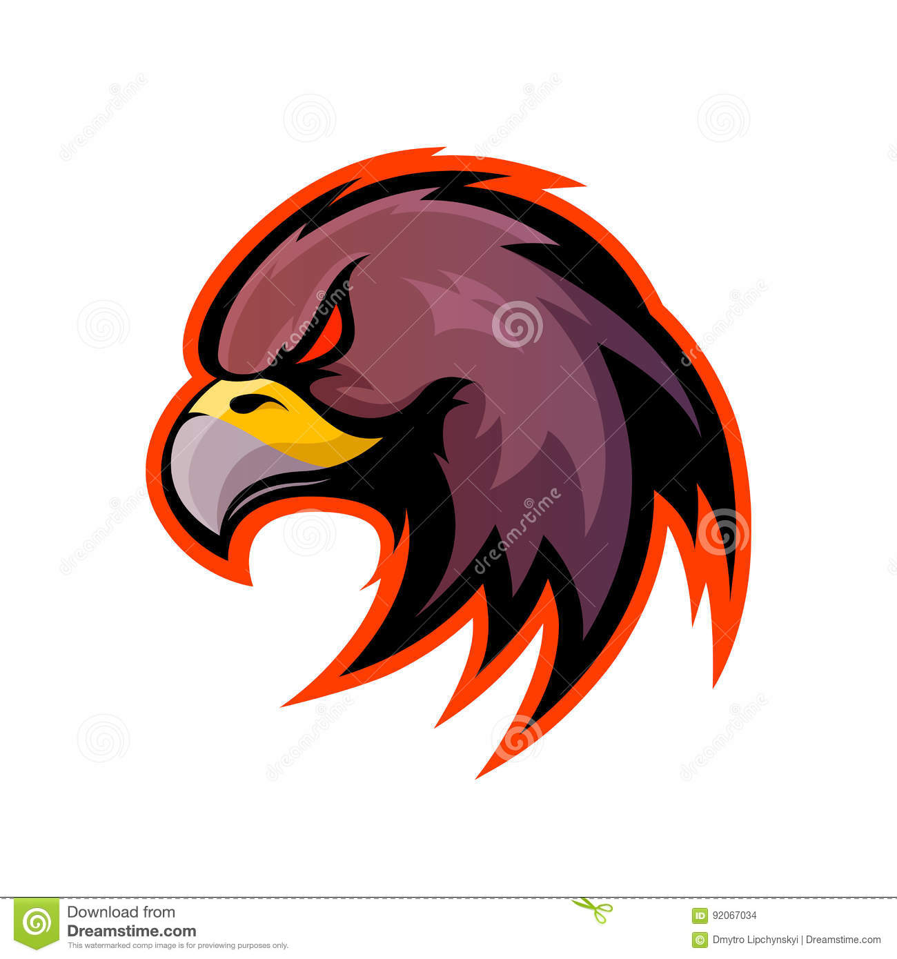 Modern Professional It Company Logo Design For Concept: Furious Eagle Sport Vector Logo Concept Isolated On White