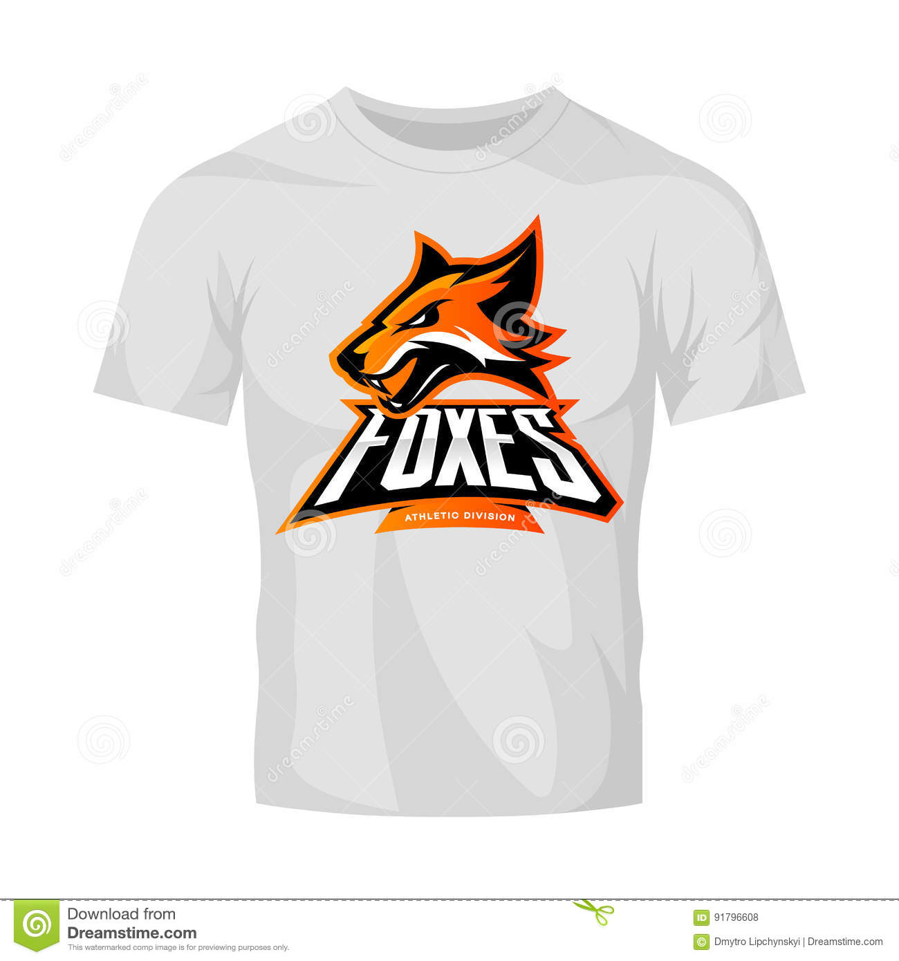 Modern Professional It Company Logo Design For Concept: Furious Fox Sport Club Vector Logo Concept Isolated On