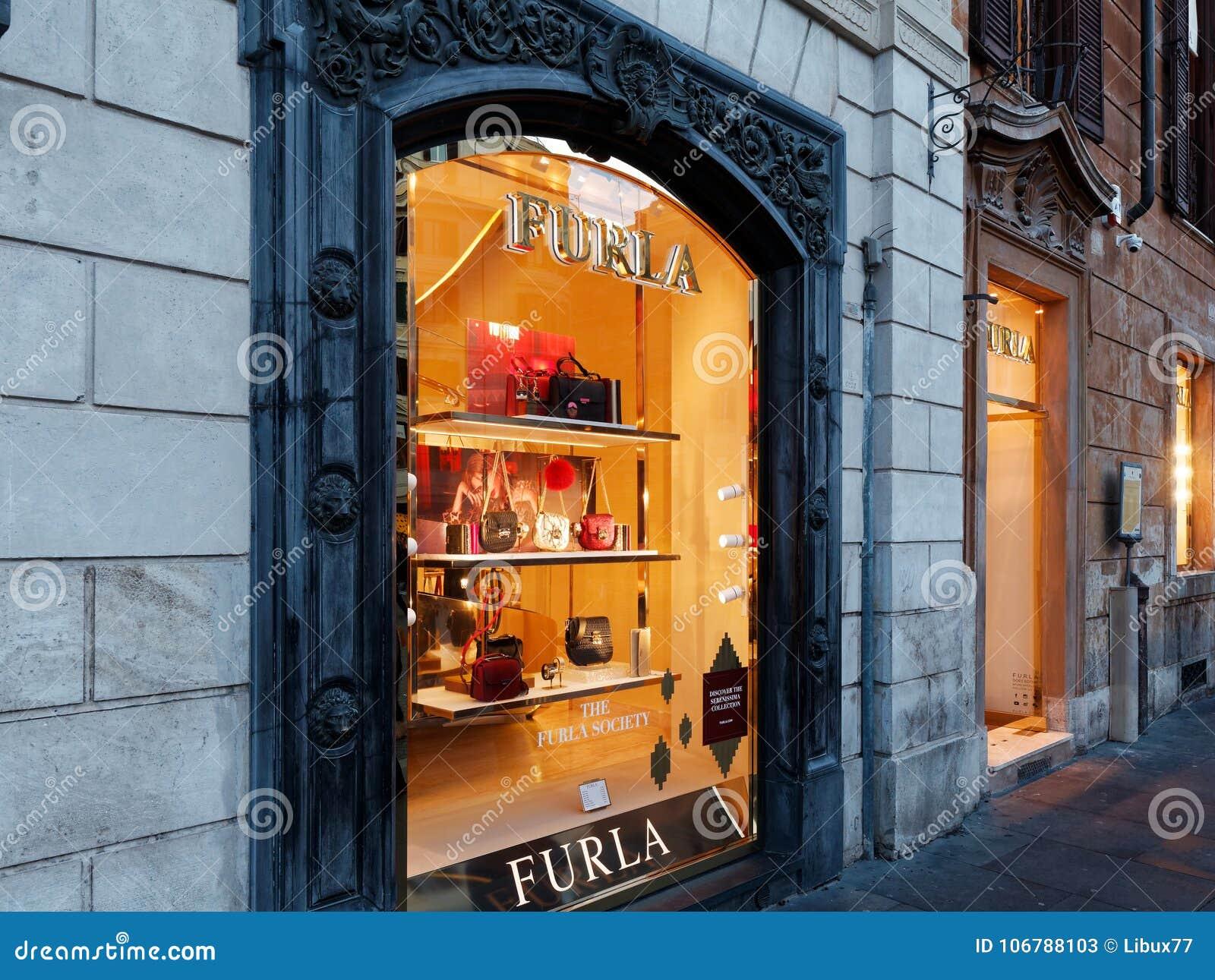 Furla Window Shop At Spain Square Rome Editorial Stock