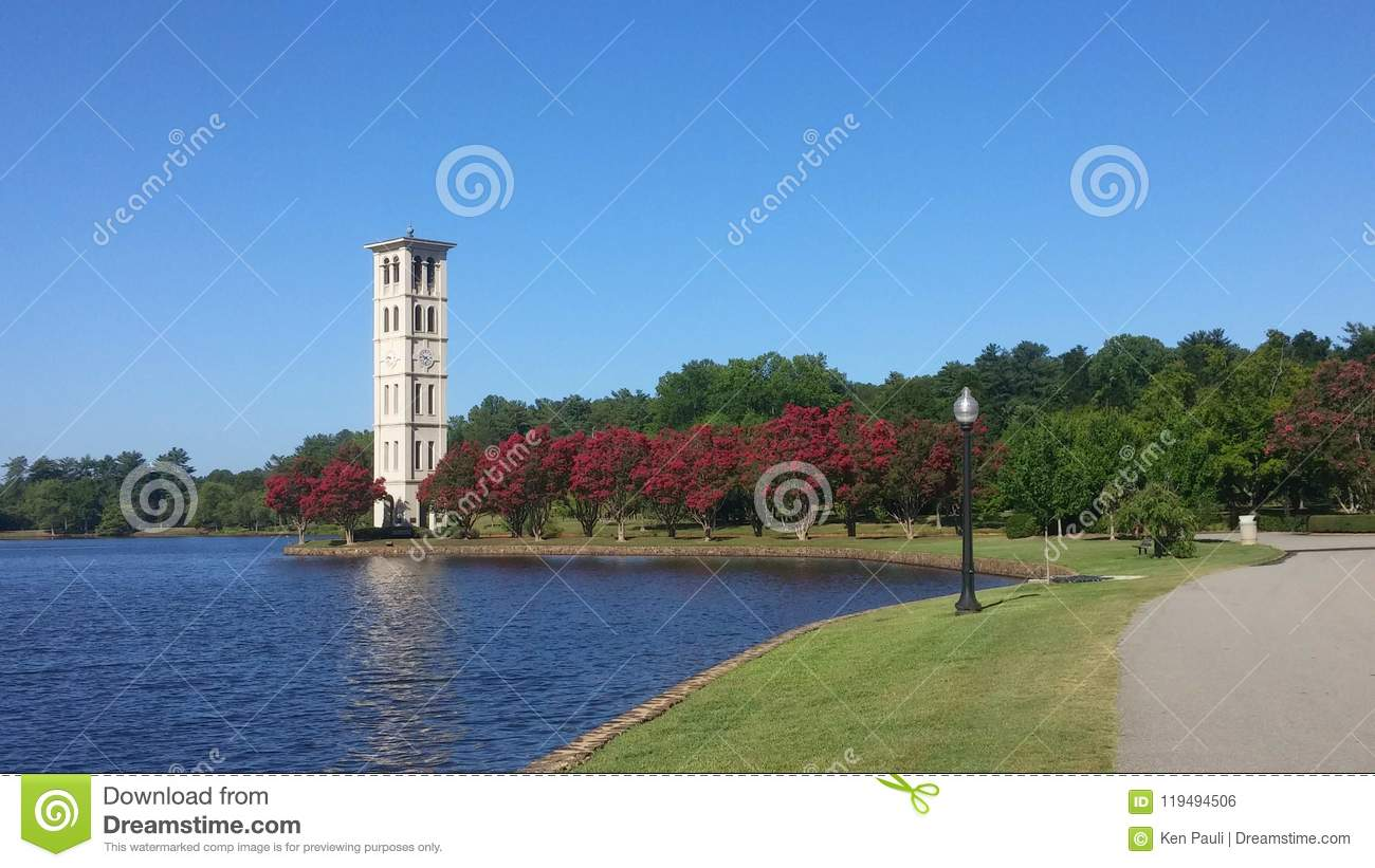 625e656c27a18 Furman University Bell Tower, Greenville SC Editorial Photo - Image ...