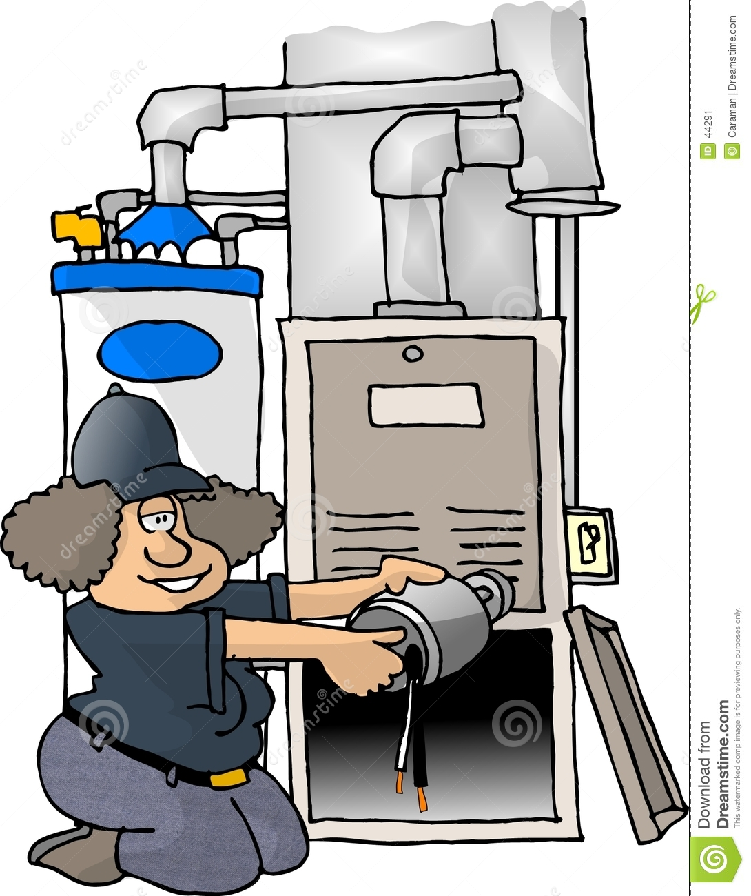 Forced Air Propane Heater >> Furnace Repair Stock Image - Image: 44291