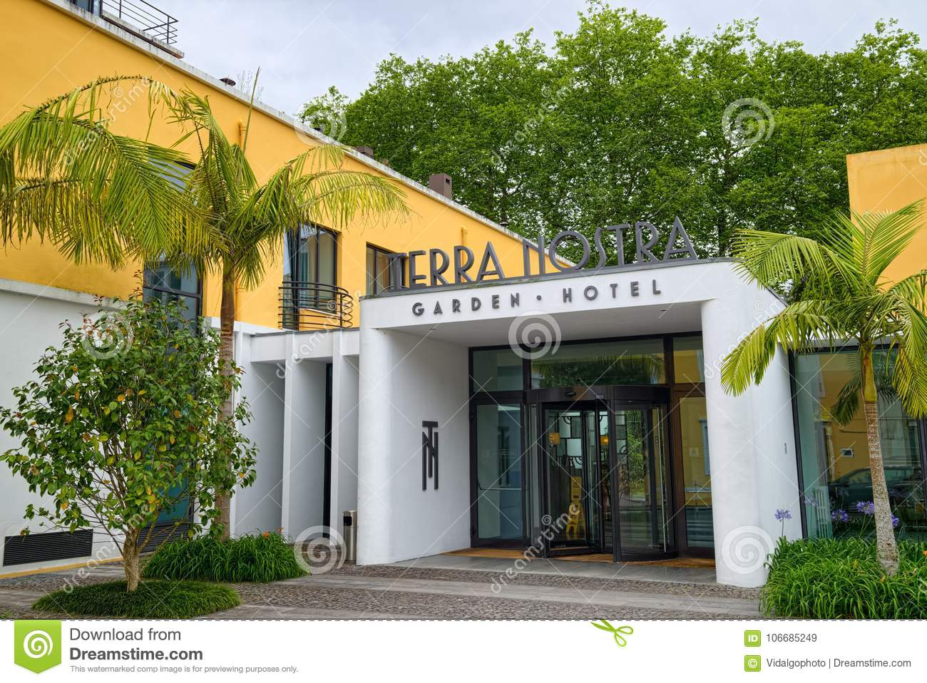 Download Terra Nostra Garden Hotel In Furnas Town, Sao Miguel Island,  Azores Editorial Stock