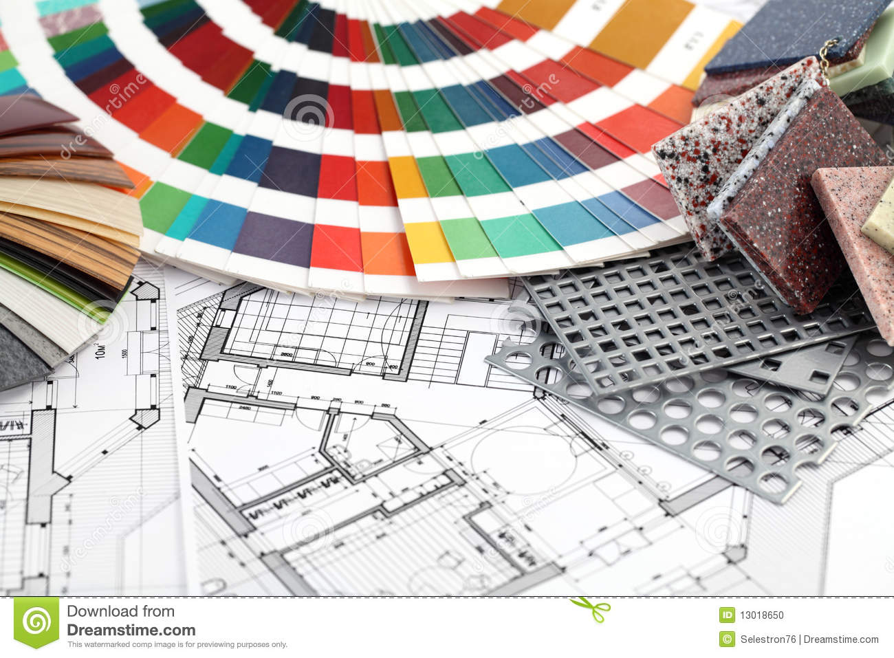 Furnishing Materials Interior Plan Stock Photo Image