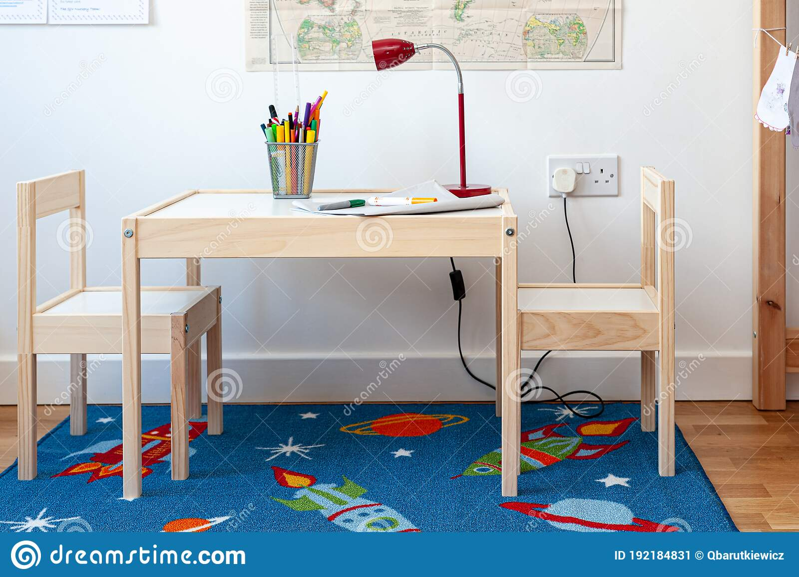 Furniture Assembled From Flat Pack Set Of Two Small Chairs With Desk In Child S Bedroom Stock Image Image Of Desk Flatpack 192184831