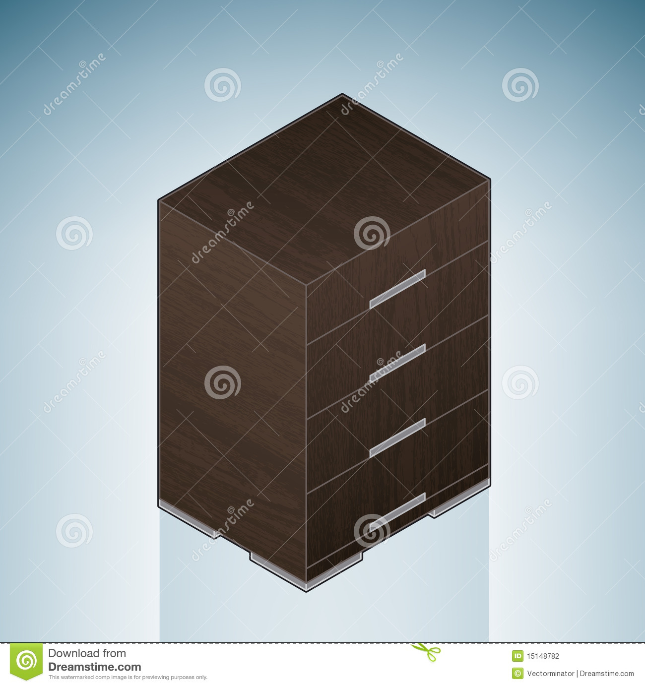 Furniture Bedroom Chest Of Drawers Part Of The 3D Isometric Icons
