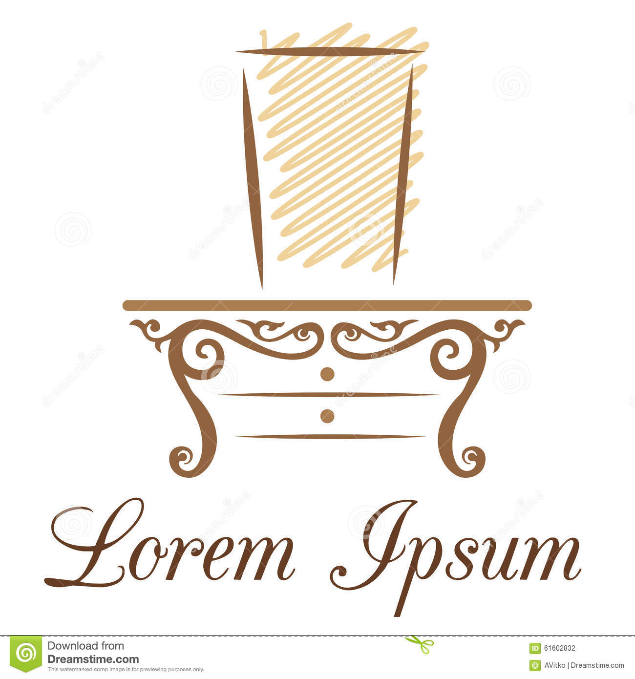 Furniture Business Or Beauty Industry Logo Stock Vector