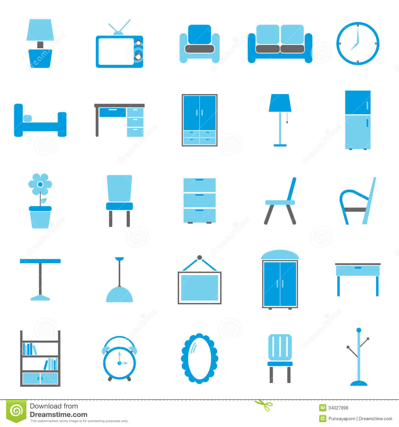 ... Icons On White Background Royalty Free Stock Photos - Image: 34027898