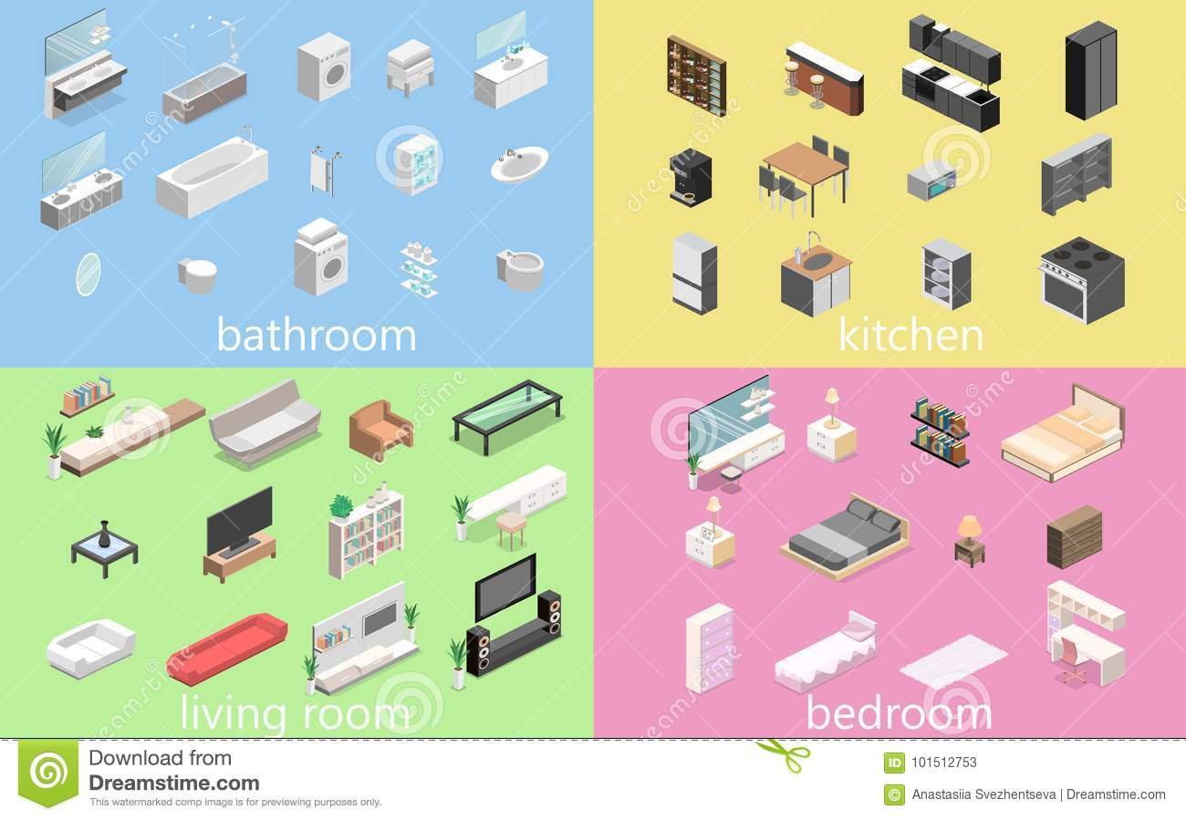 Furniture Constructor For Creating A Bathroom, Living Room ...