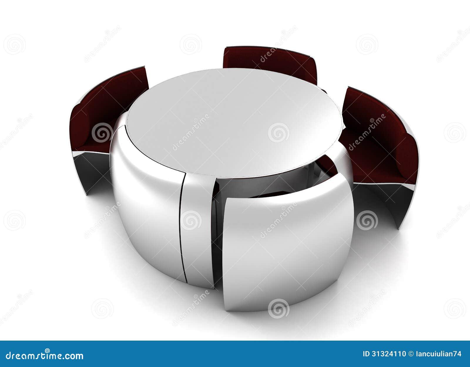 Furniture Design Table Render Stock Photo Image 31324110