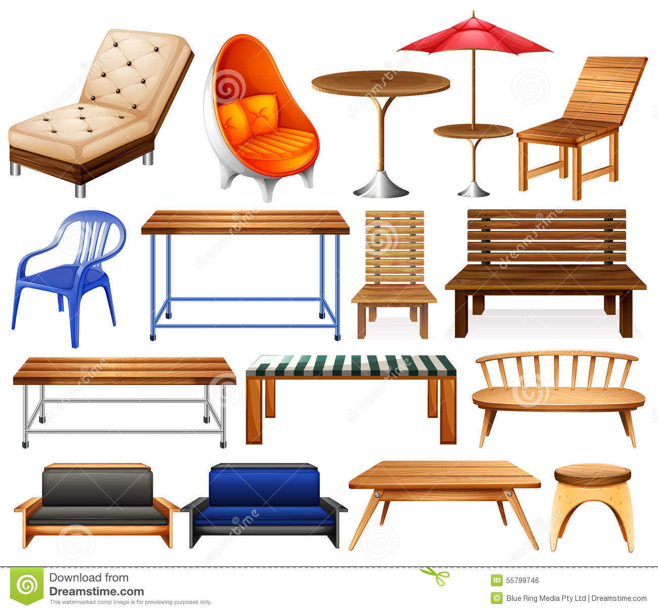 Furniture Stock Vector Image 55799746