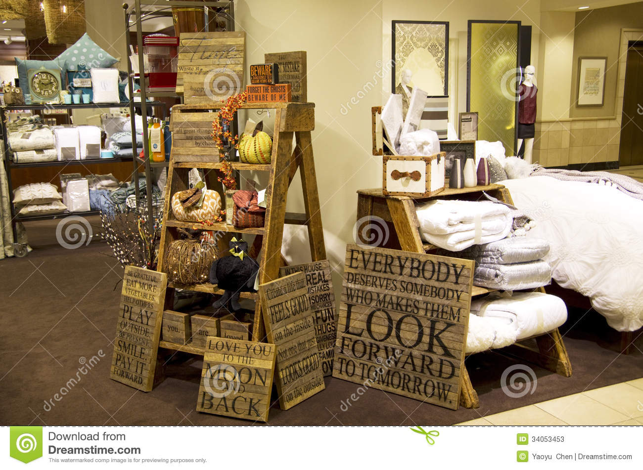 Furniture Home Decor Department Store Editorial Stock