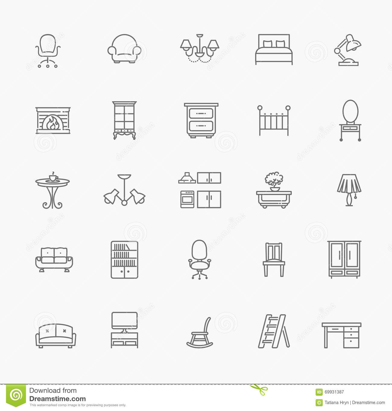 Furniture And Home Decor Icon Set Vector Illustration Home Decorators Catalog Best Ideas of Home Decor and Design [homedecoratorscatalog.us]