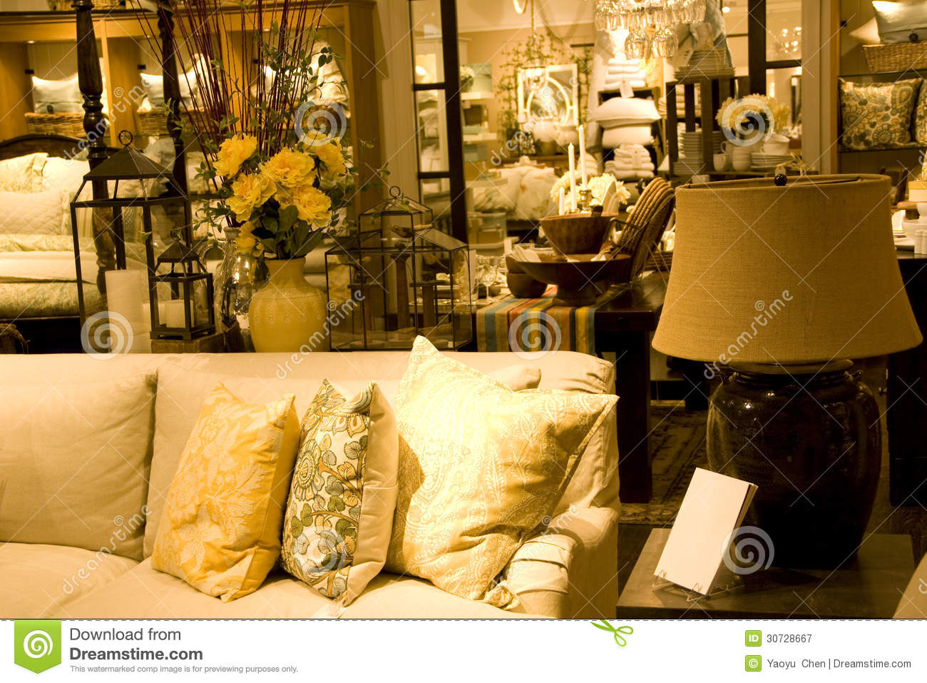 Furniture And Home Decor Store Royalty Free Stock