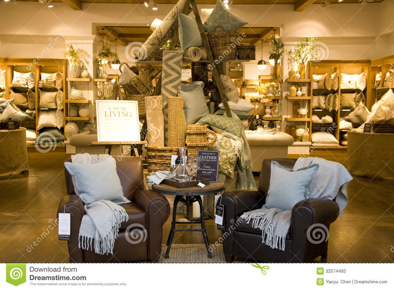 Furniture home decor store editorial stock photo image of for Home furnishing stores