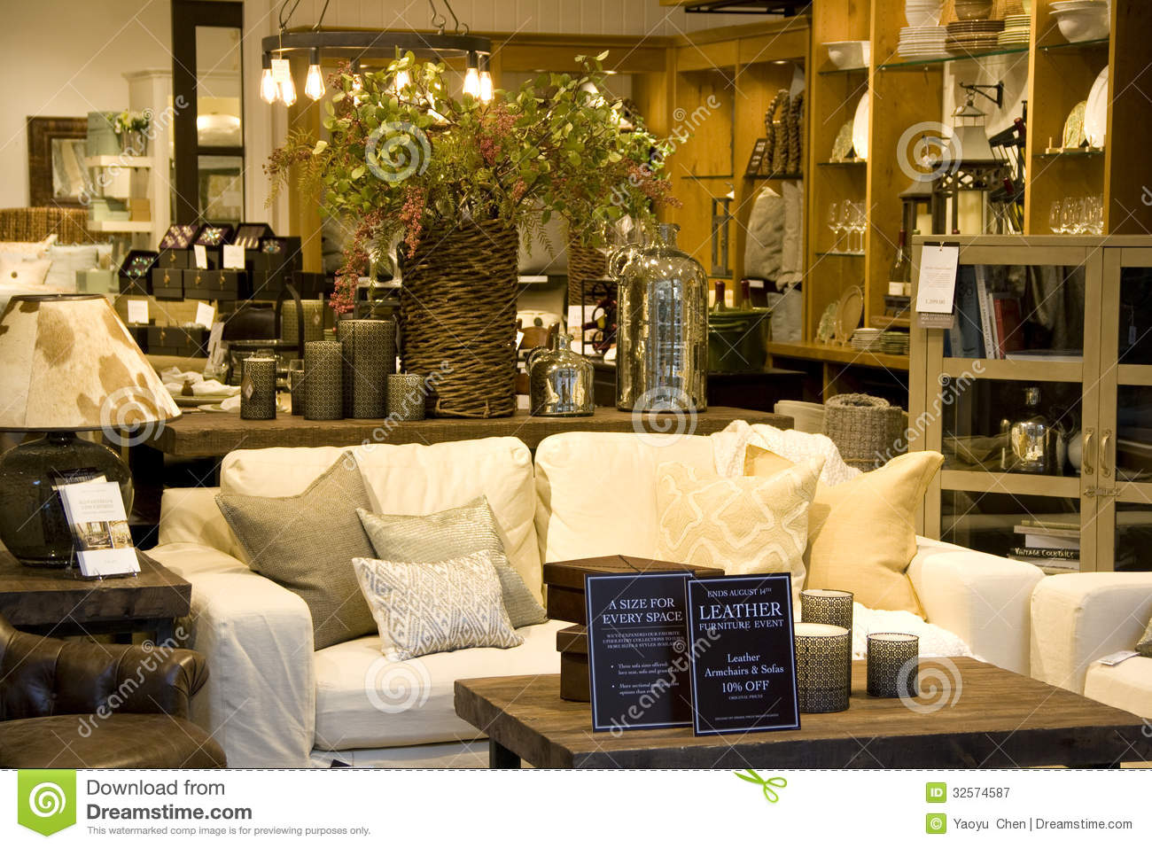 Furniture home decor store editorial photography image for At home accents