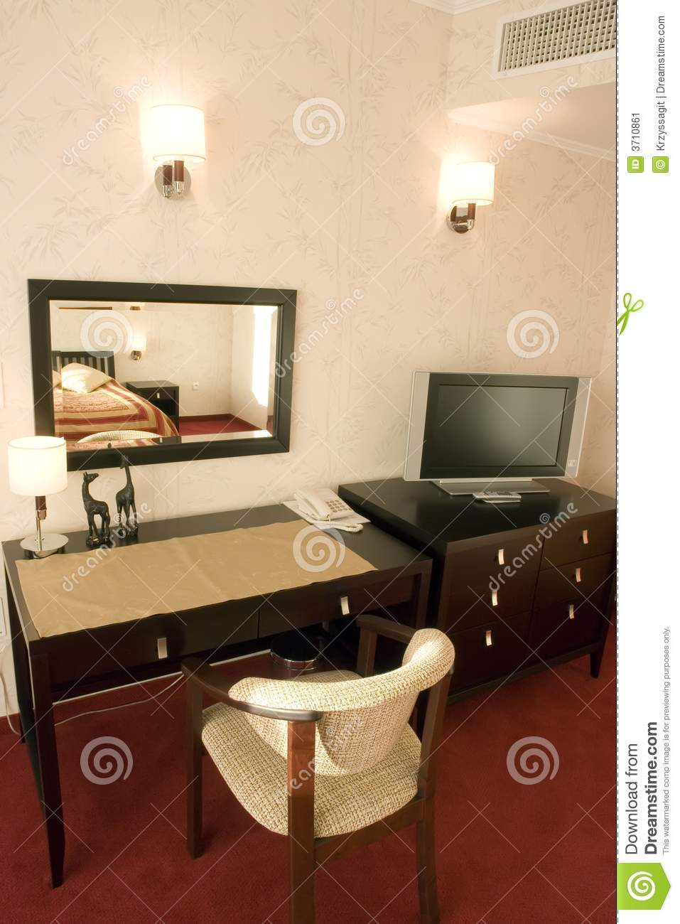 Furniture In Hotel Room Stock Image