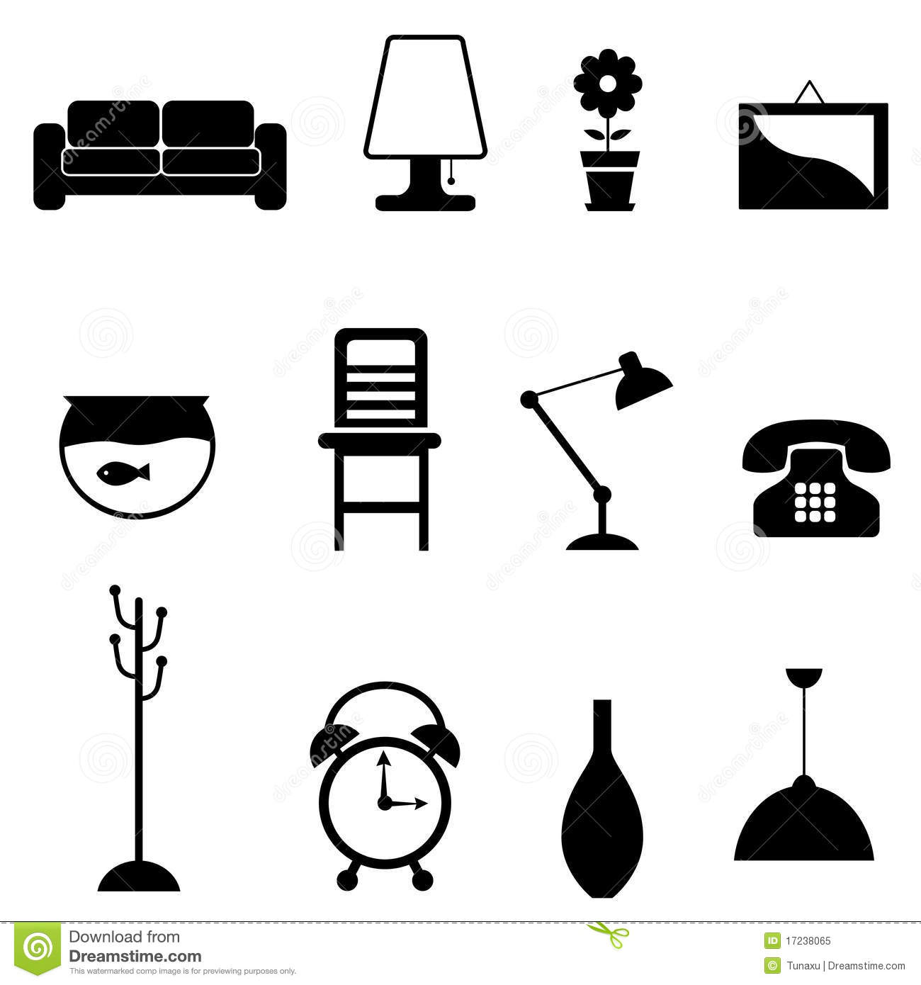 Furniture Icon Stock Vector Image Of Design Desk Black
