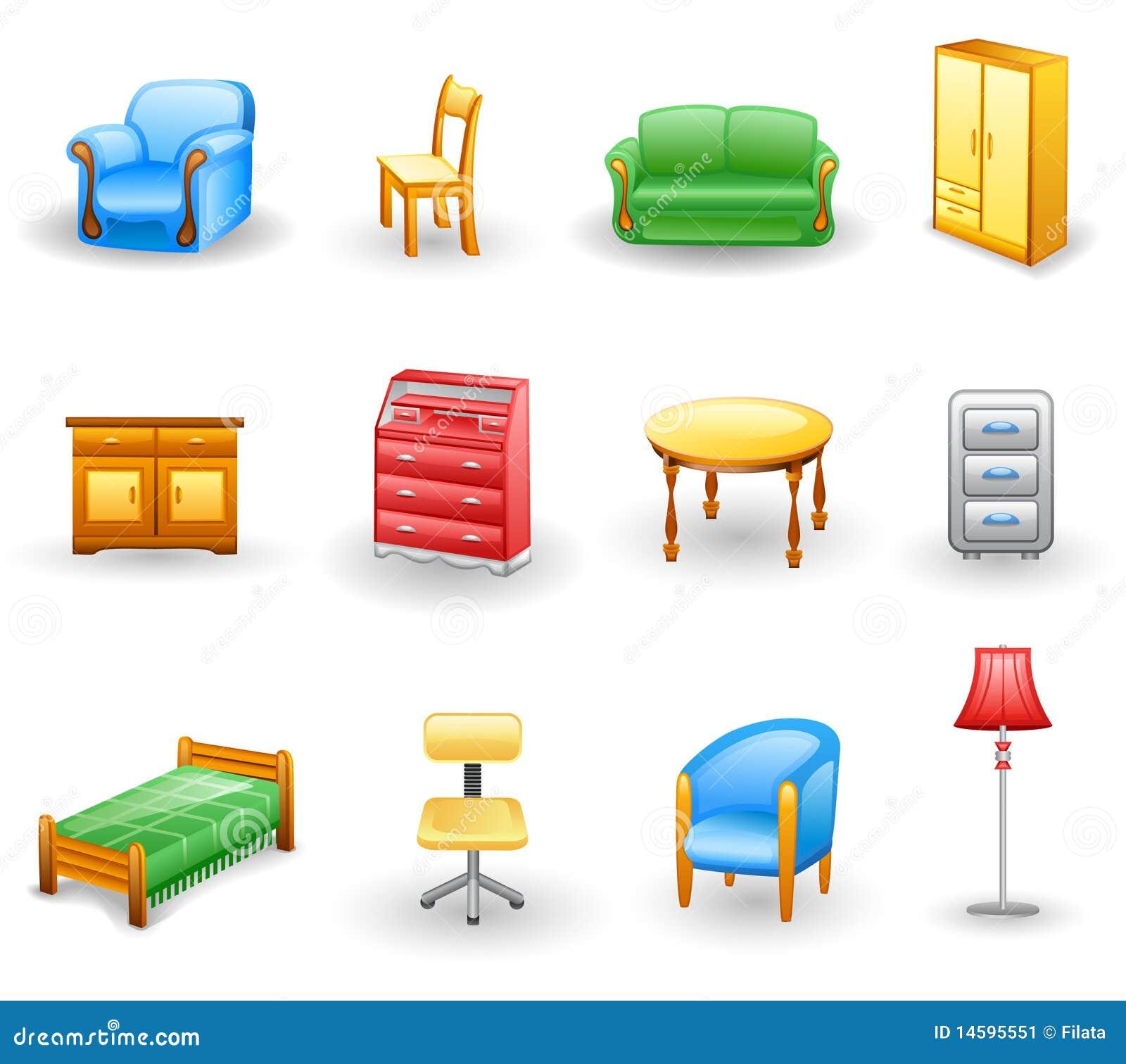 Furniture Icon Set Stock Image Image 14595551
