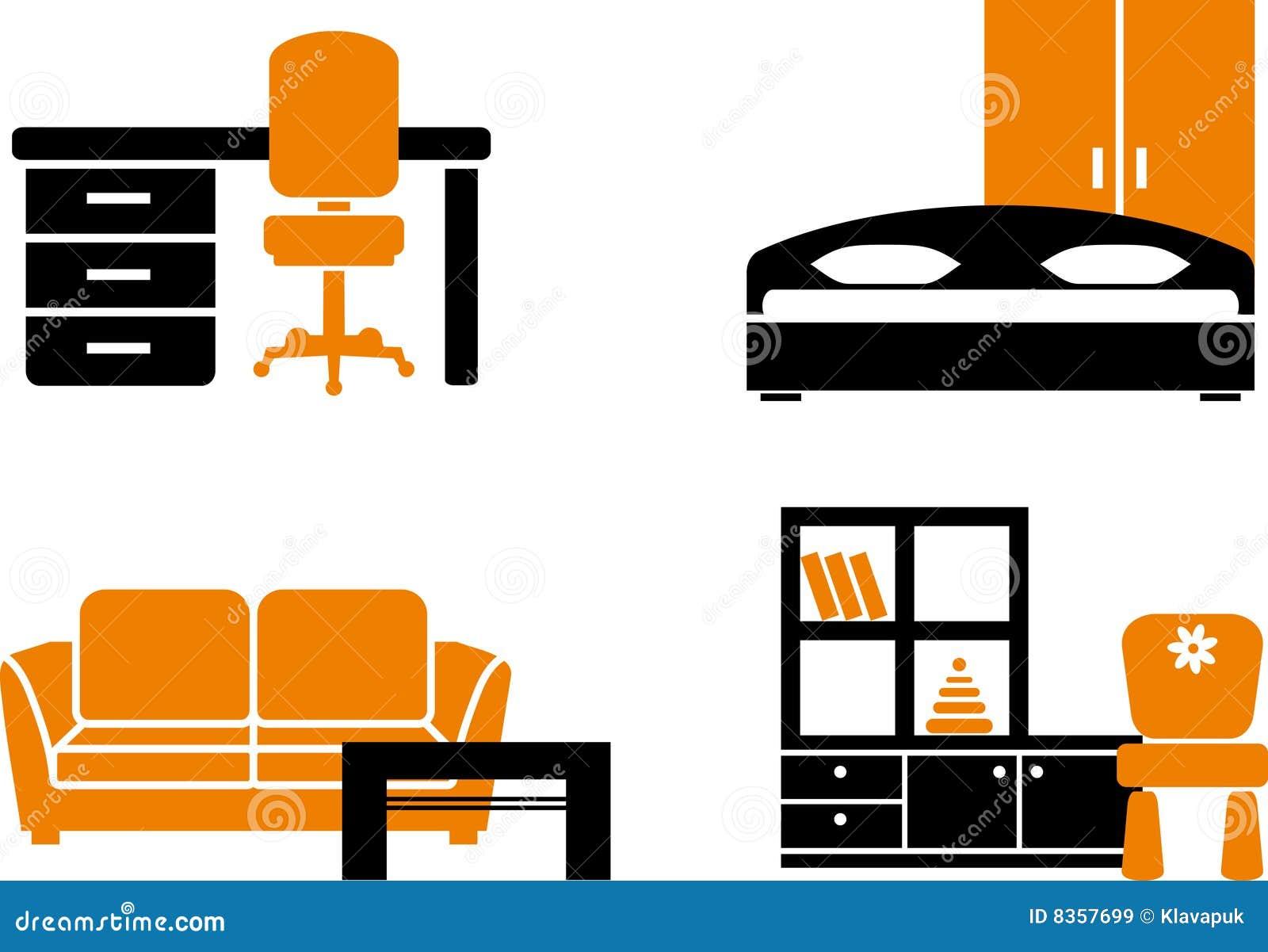 Furniture Icon Set Royalty Free Stock Image