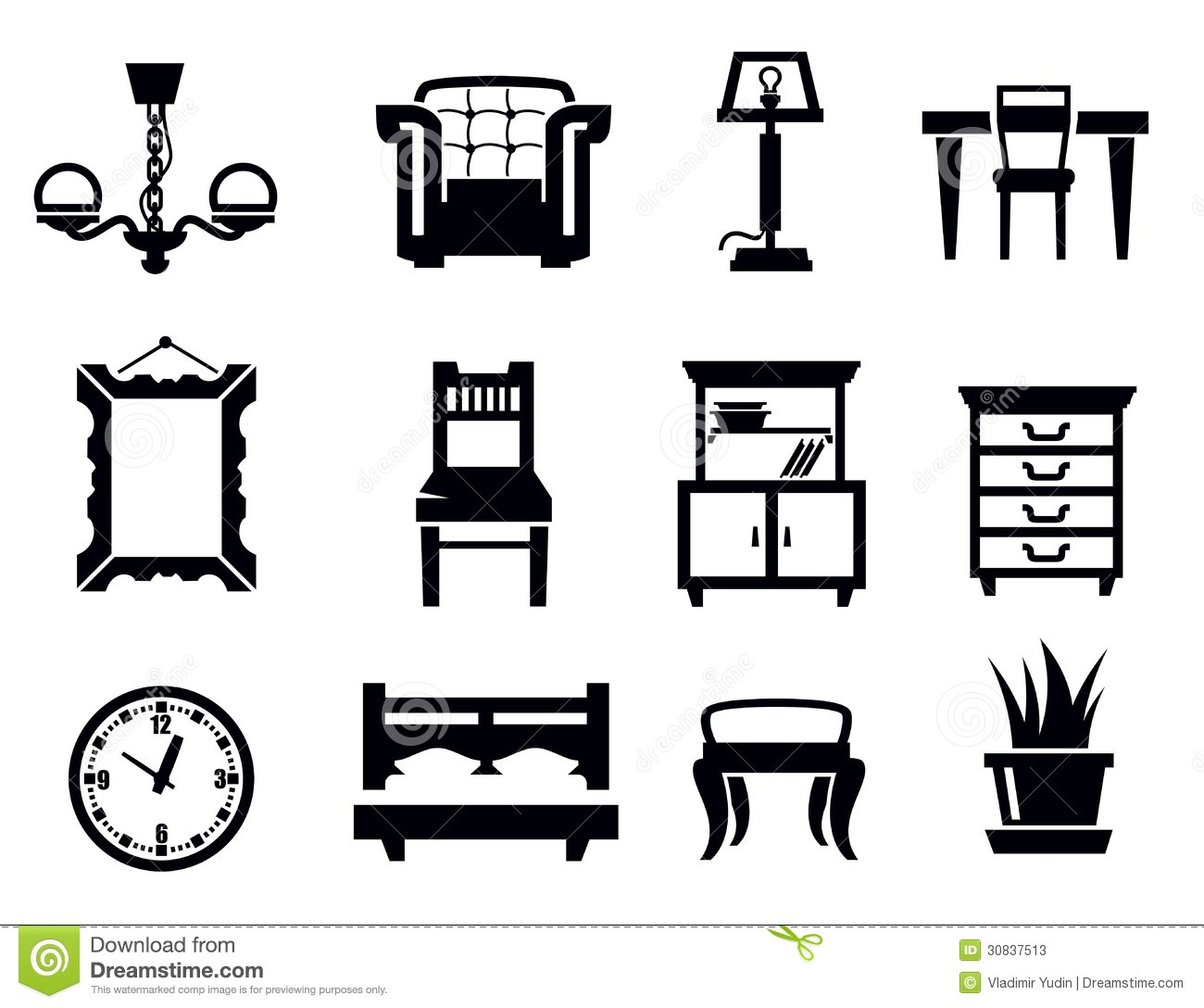 Original 33 Office Furniture Clipart Black And White Inspiration