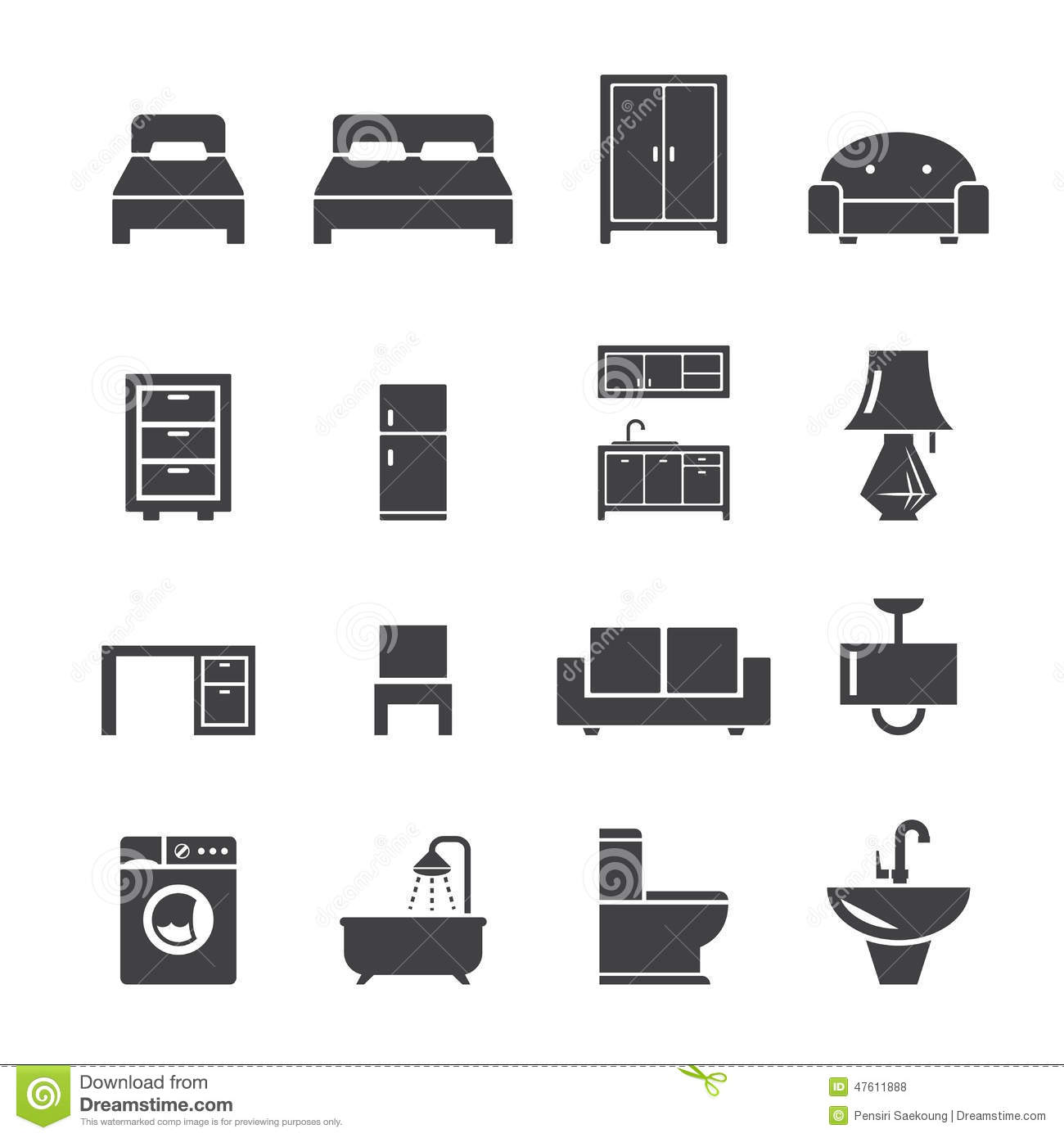 Furniture icon stock vector image of lighting flush for Table design vector