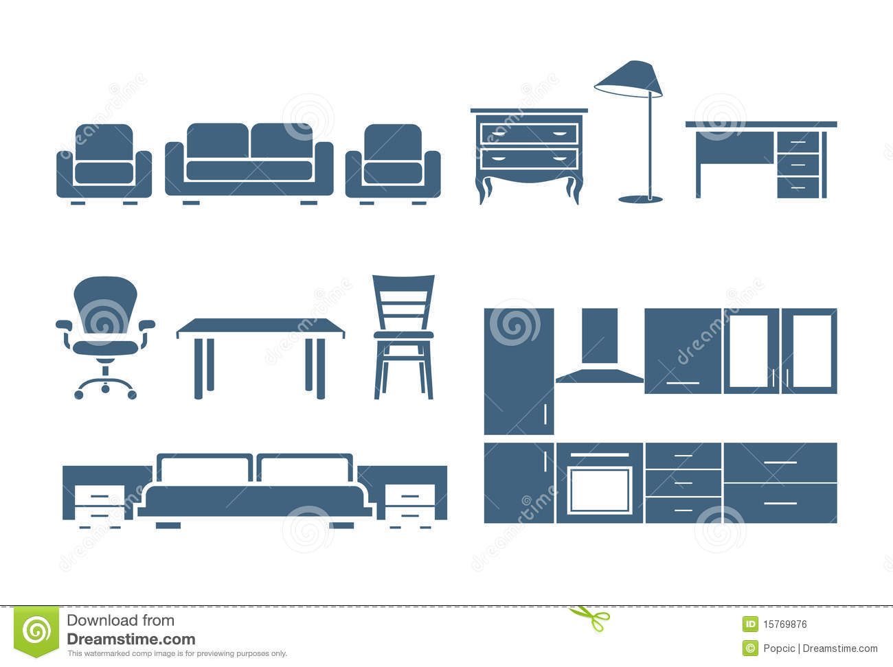 Modern Furniture Icon furniture icons royalty free stock photos - image: 35325488