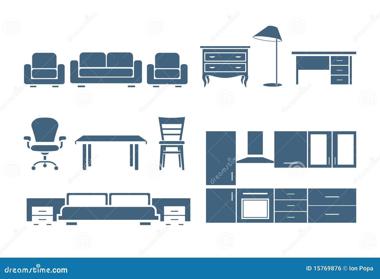 Furniture Icons Royalty Free Stock Image Image 15769876
