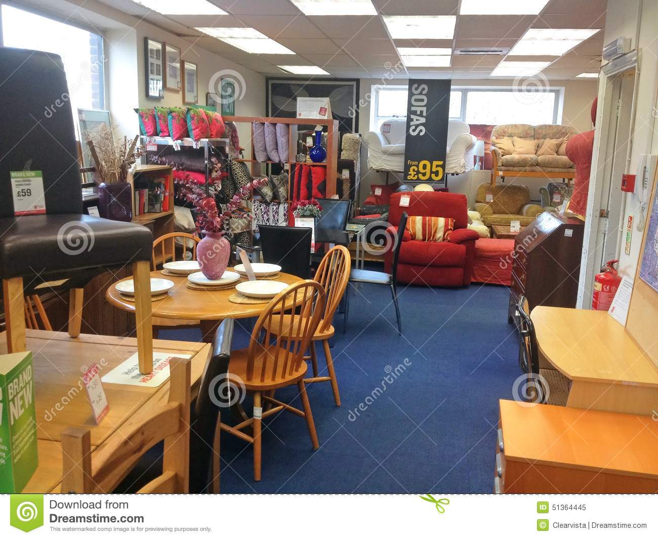 Furniture Inside A Second Hand Used Charity Shop