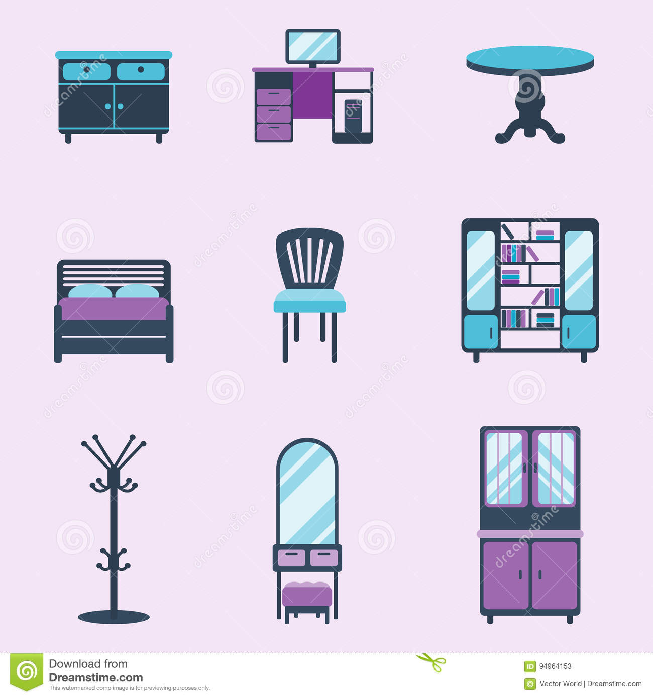 Interior design living room vector illustration vector for Room design vector