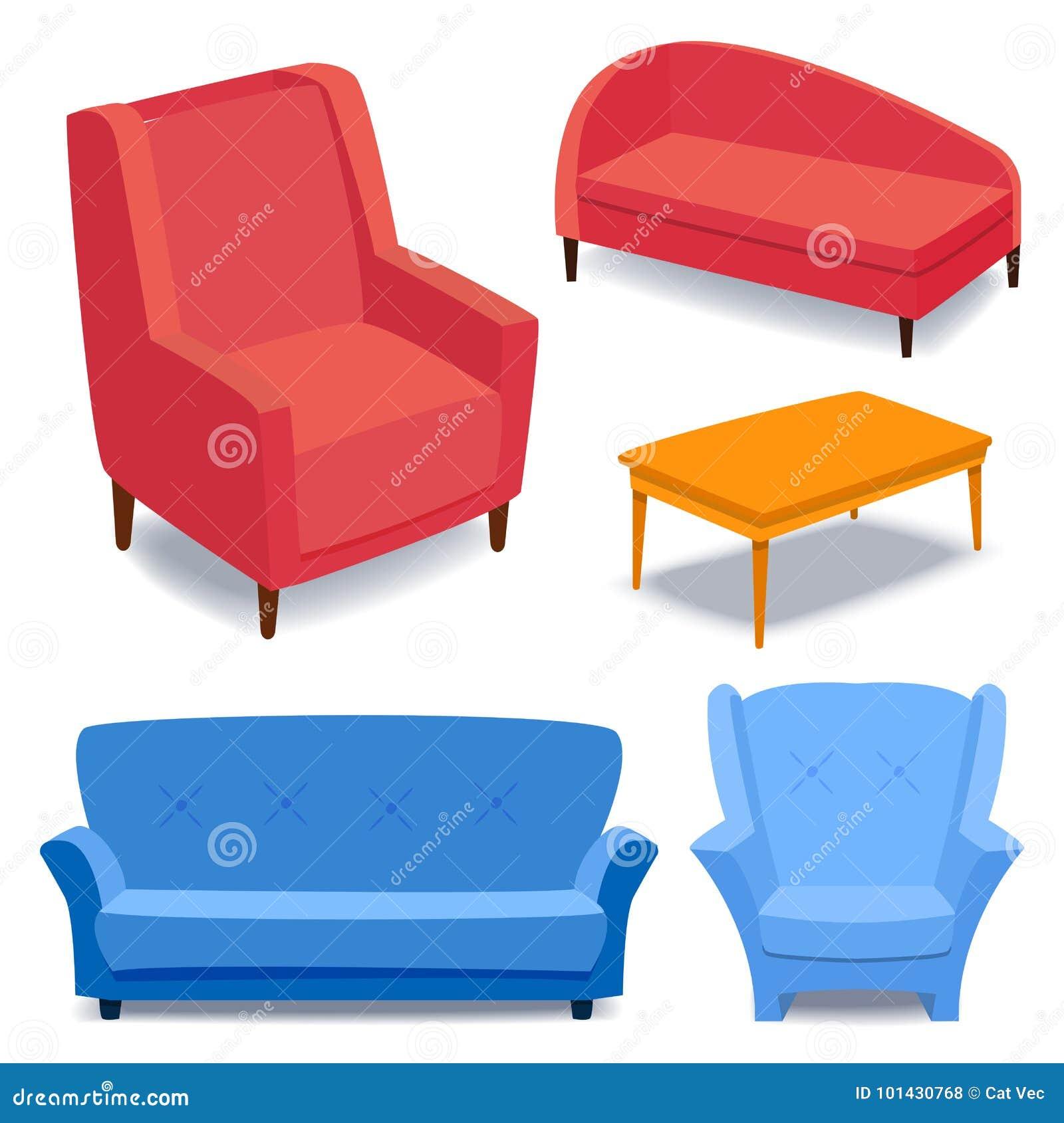 Furniture Interior Icons Home Design Modern Living Room ...
