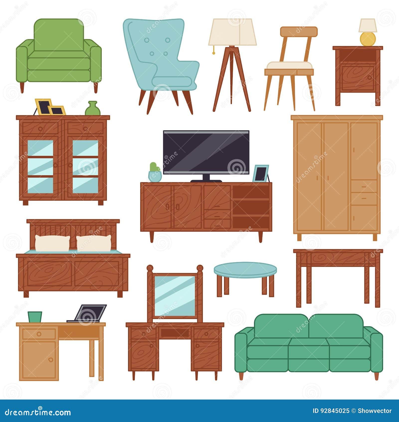 Rc Furniture Interior Design Stock Dealer ~ Comfortable modern living room stock photo cartoondealer