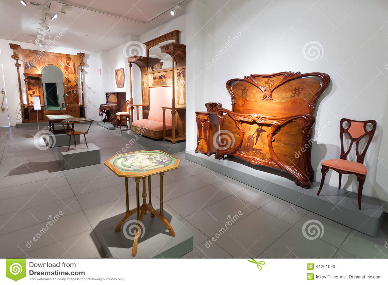 Furniture In Interior Of Museum Of Catalan Modernisme Editorial ...