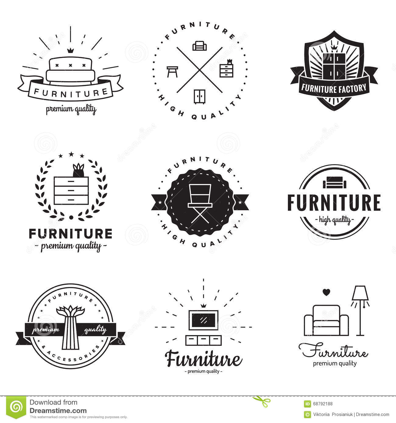 Furniture logo vector free download - Royalty Free Vector Business Design Furniture Hipster Logo