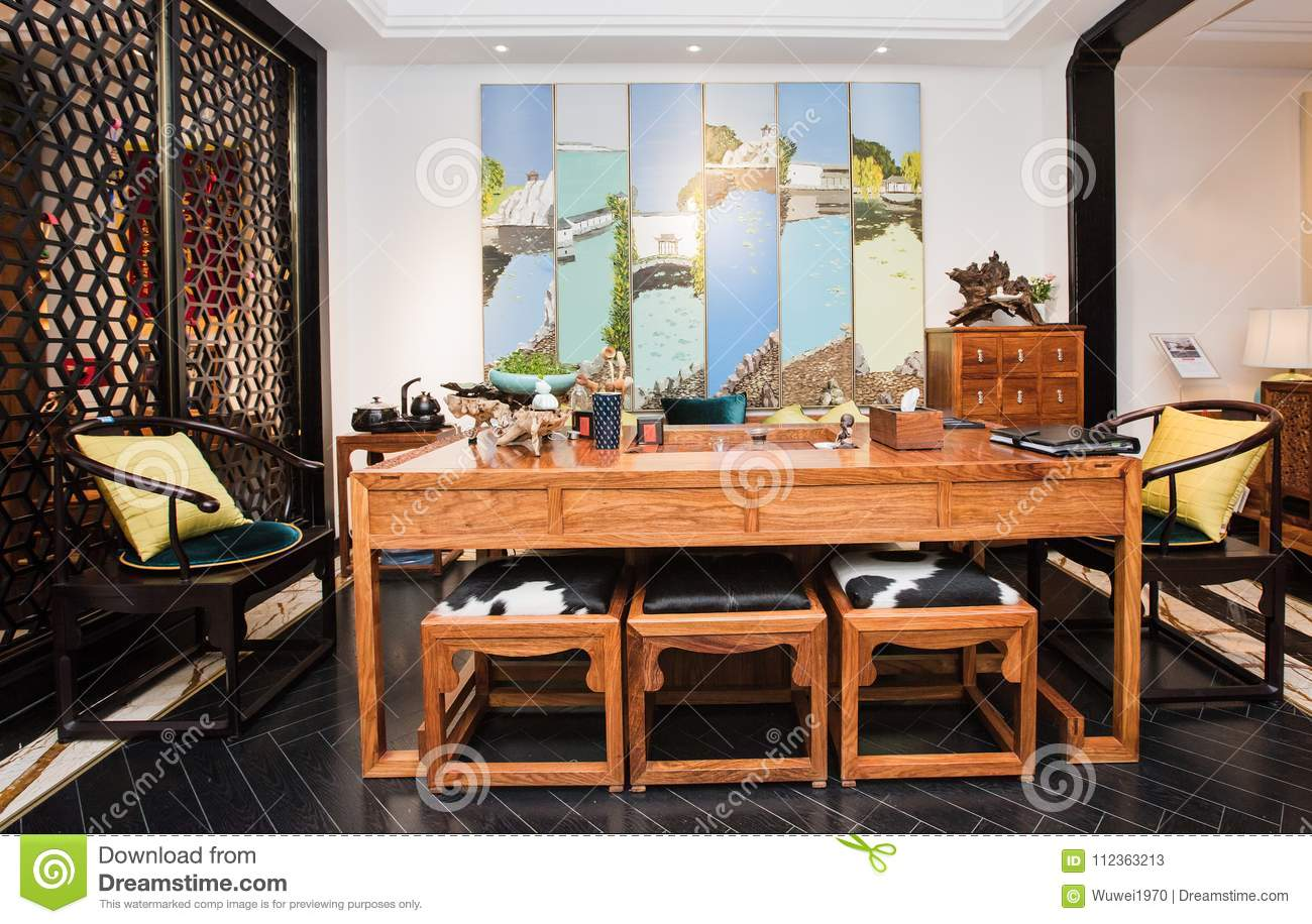 With the development of time chinese people today prefer modern mahogany furniture the furniture is simple practical both traditional