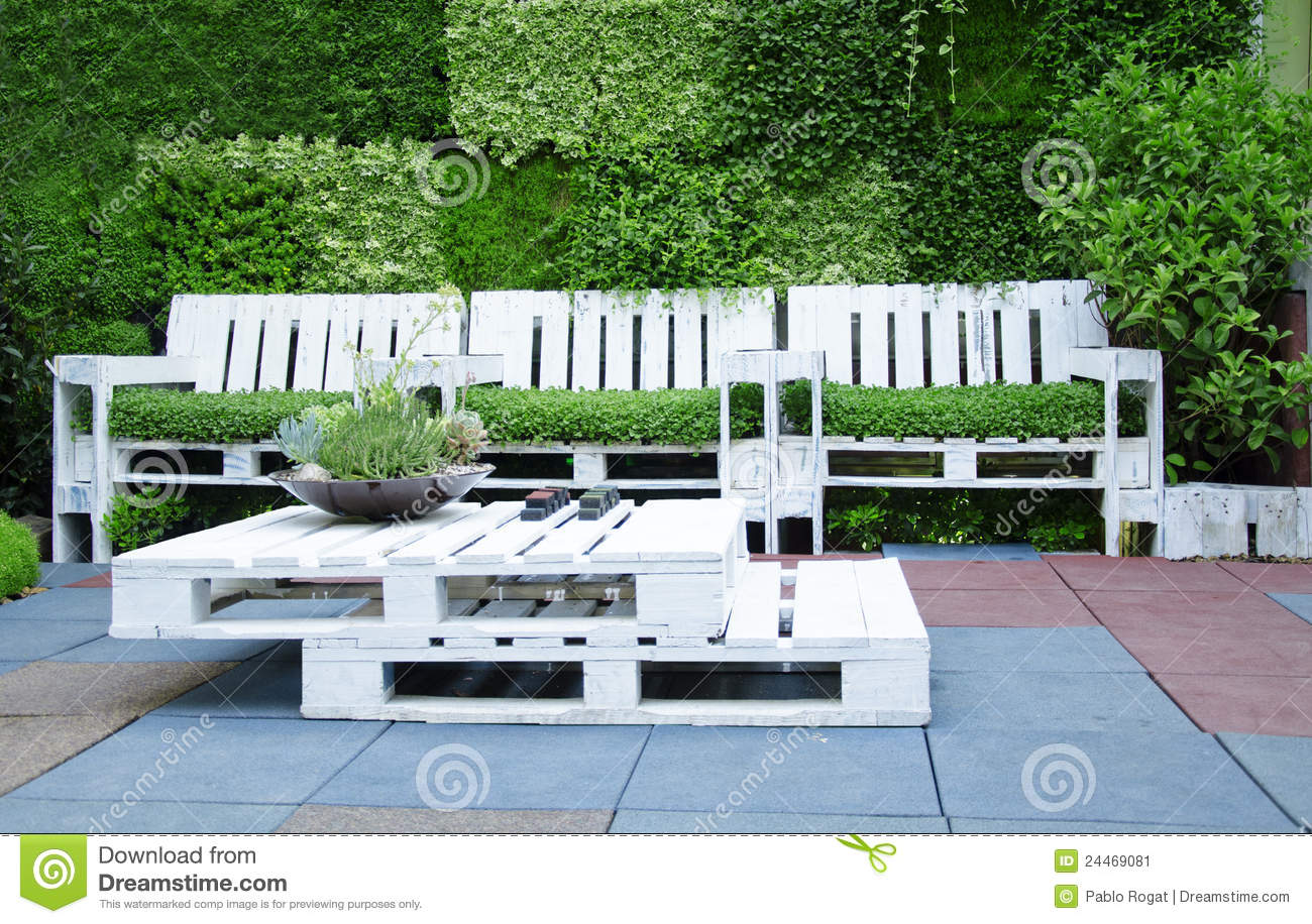 Furniture Made from Pallets Stock Image - Image: 24469081
