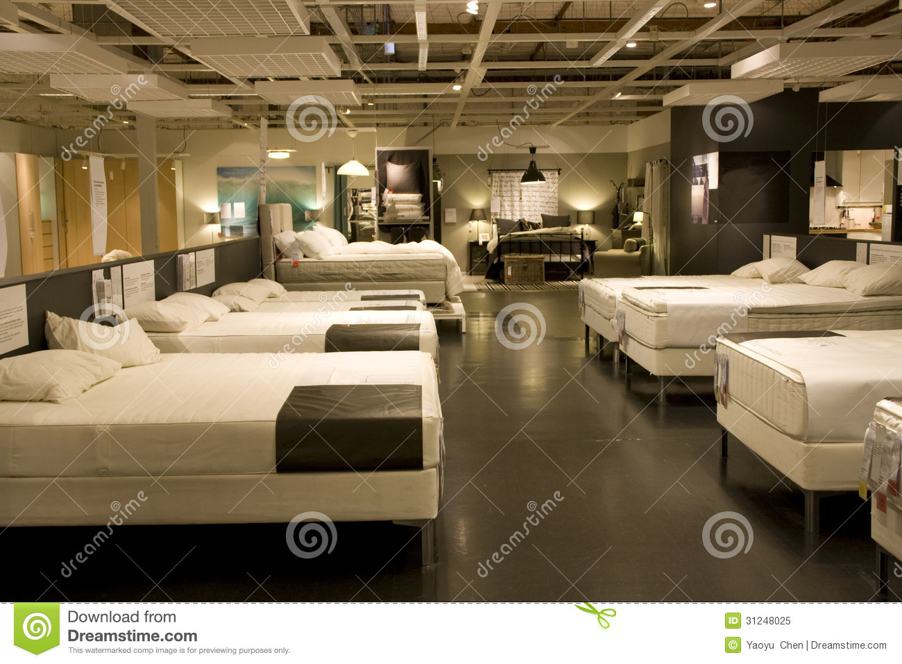 Furniture Mattress Bed Store Royalty Free Stock Photo Image 31248025
