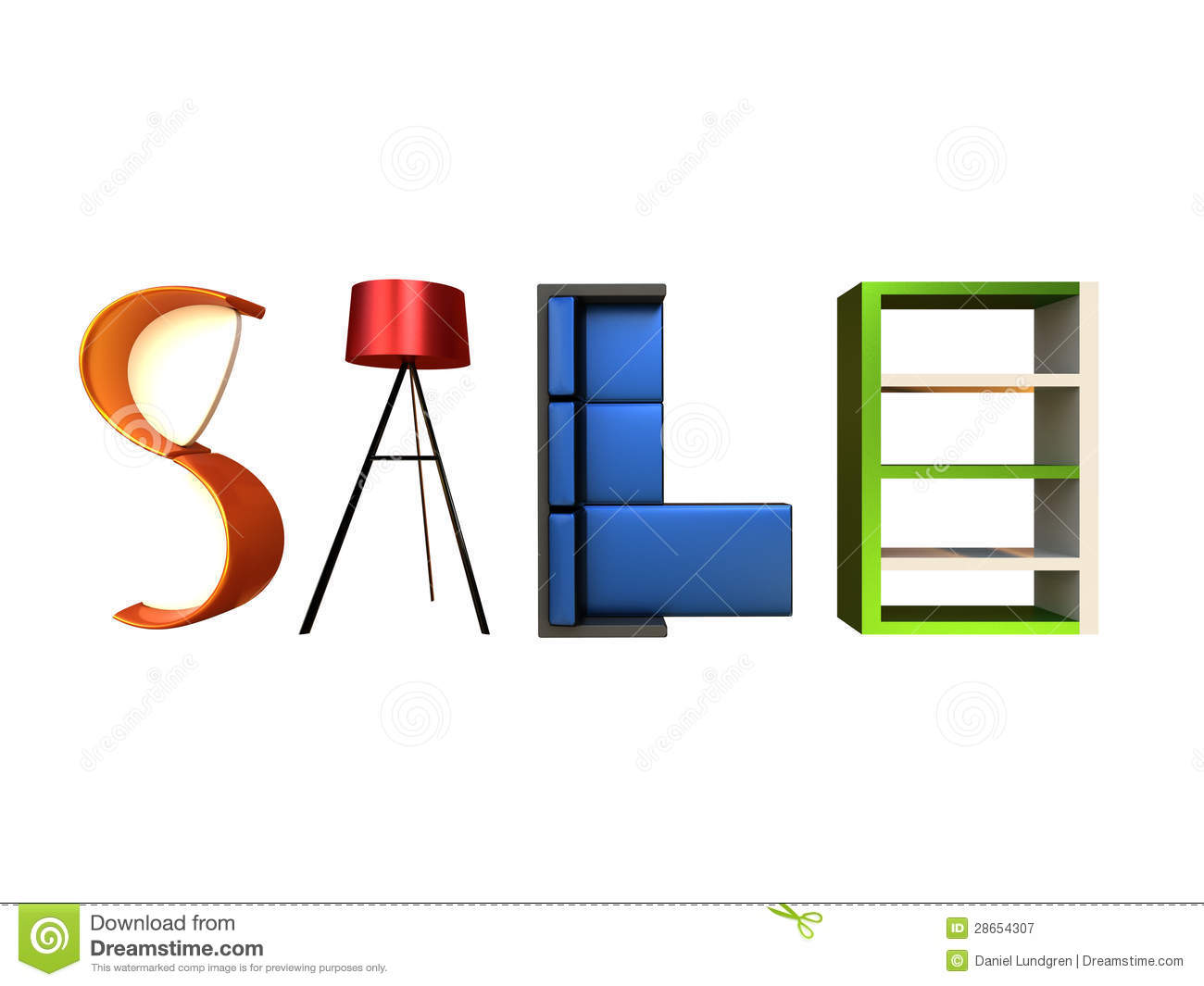 Furniture sale stock illustration illustration of elegant for Furnisher sale