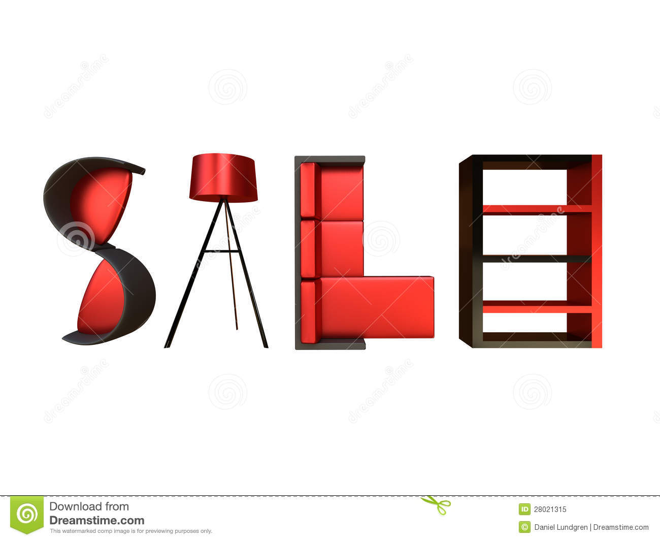 Furniture Sale Advertisement Stock Illustration Illustration Of