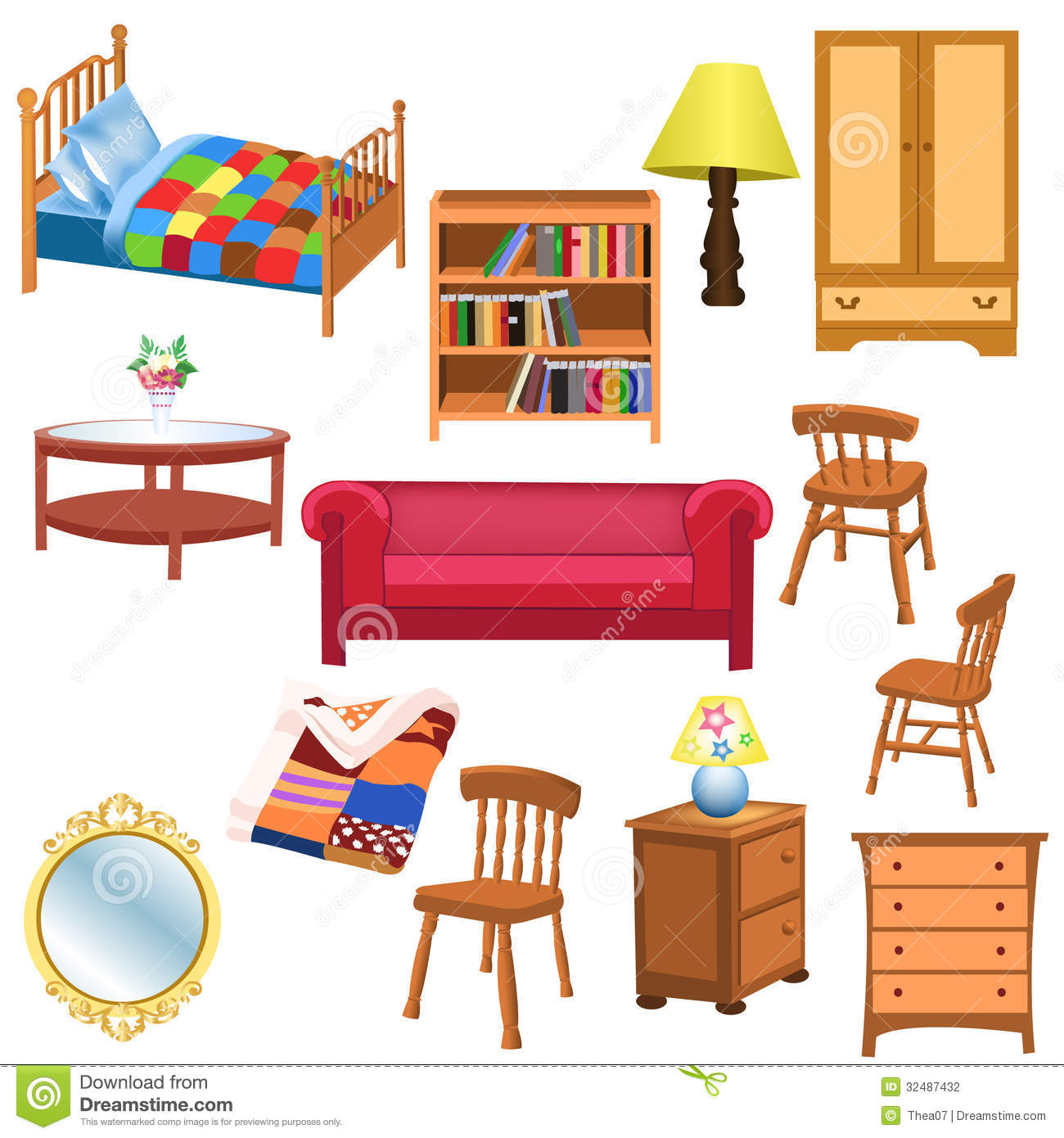 Royalty Free Stock Photo. Download Furniture Set Stock Photography   Image:  32487432. Bedroom Furniture Living Room ... Part 88