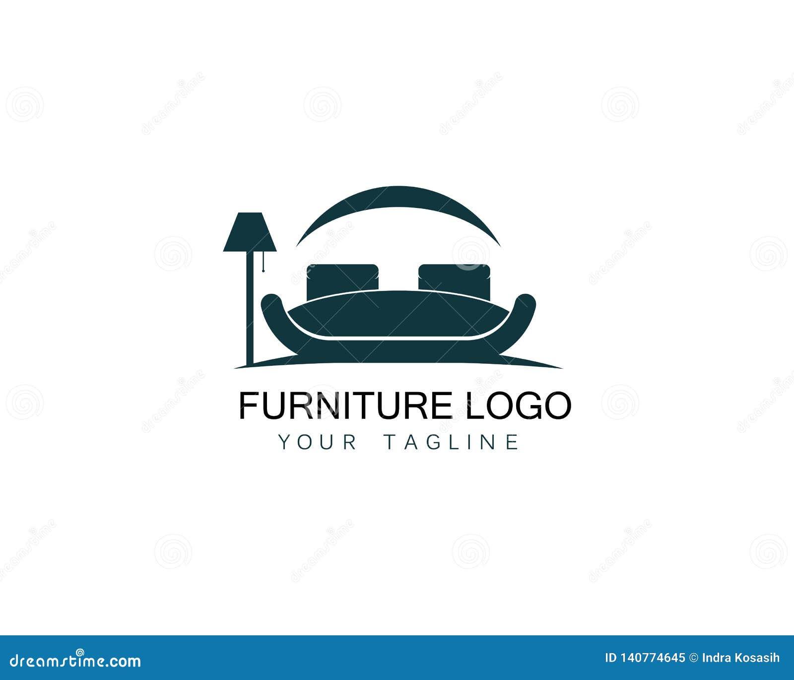 Furniture Sofa Logo Design Icon Template. Home Decor ...