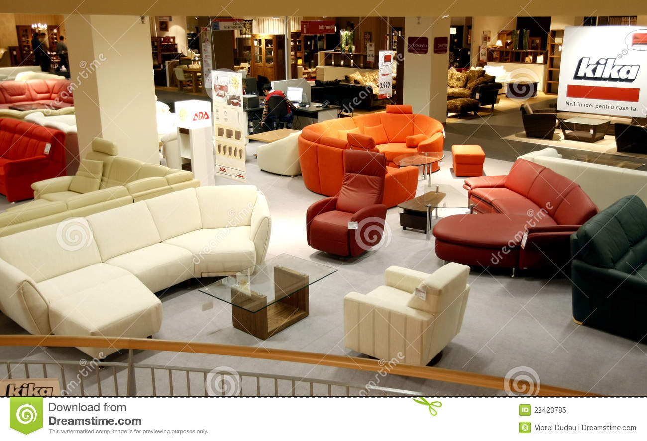 Inside furniture store Used Furniture Comfortable Leather Couches And Armchairs Are Displayed Inside Of Kika Furniture Store Wgr Furniture Furniture Store Editorial Image Image Of Modern Mall 22423785