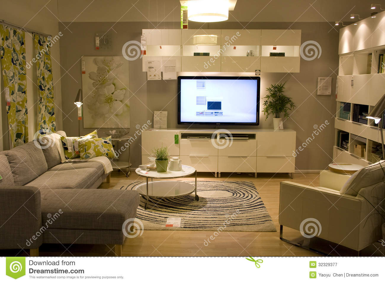 Furniture Displayed In A Clothes Shop Close Up Low Angle Royalty Free Stock Photo