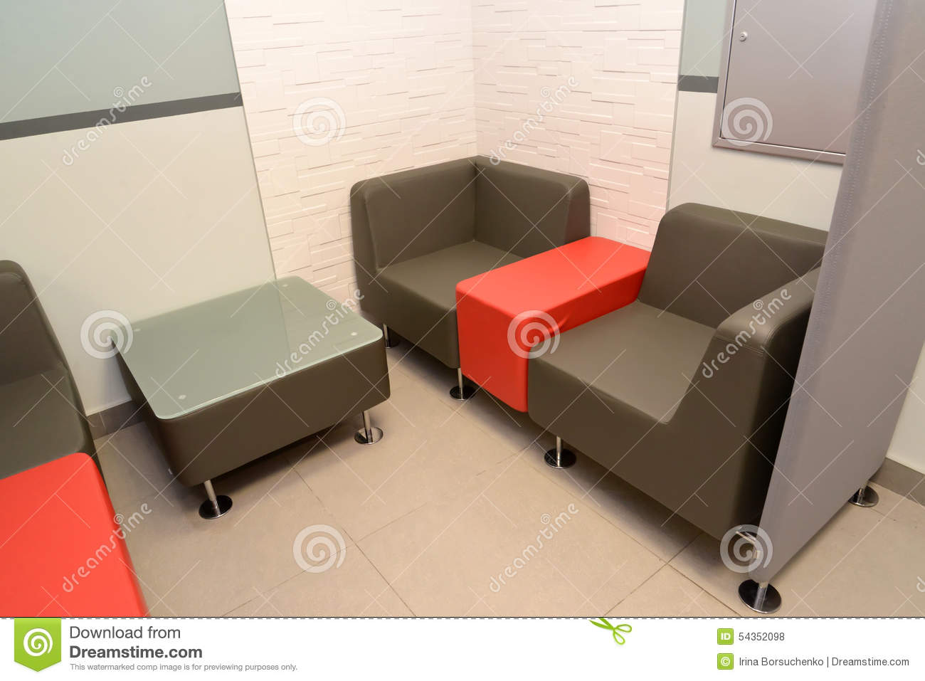 Furniture in a zone for negotiations of the personnel at for Furniture zone