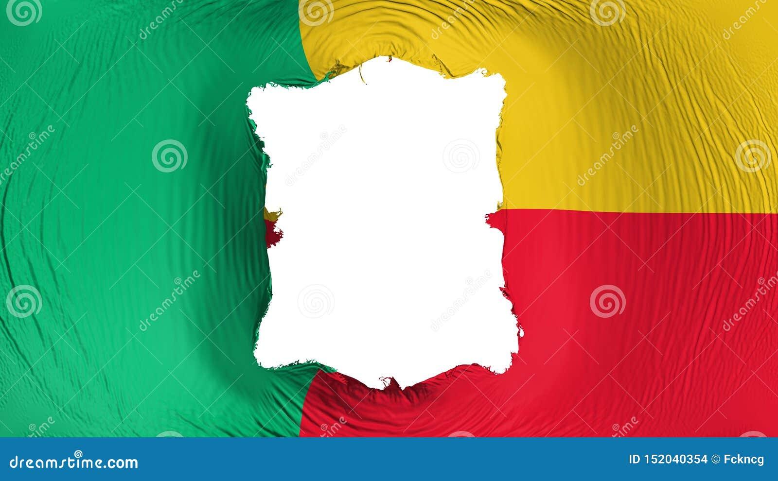 Furo quadrado na bandeira de Benin
